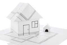 House origami draft Royalty Free Stock Photo