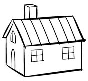 House outline Royalty Free Stock Photo