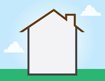 House Outline Empty Royalty Free Stock Images