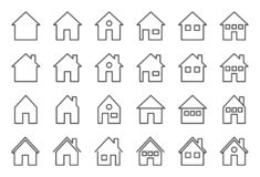 House outline icon, pixel perfect vector illustration.  royalty free illustration