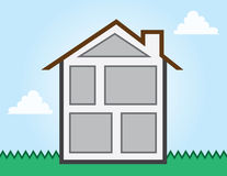House Outline Rooms Royalty Free Stock Photos