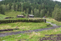 House on the outskirts. An empty village in the Altai Royalty Free Stock Photos
