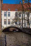House Over a Canal Bruges Royalty Free Stock Photography