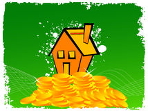 House over coins Stock Photography
