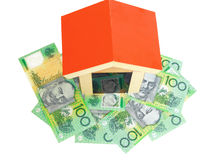 House over money Royalty Free Stock Photography