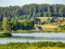 Free House Over The Lake In Poland Stock Photo - 119647710