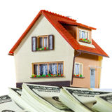 House on packs of banknotes Royalty Free Stock Photography