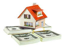 House on packs of banknotes Royalty Free Stock Images