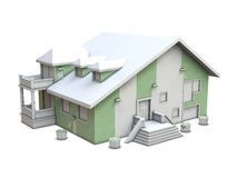 House and paint rollers vector illustration