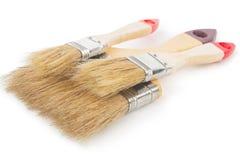 House paintbrushes on white background Royalty Free Stock Image