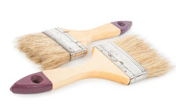 House paintbrushes on white background Royalty Free Stock Photos