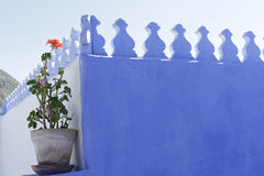 House painted in blue Royalty Free Stock Photography