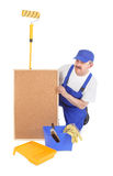 House painter and corkboard Stock Photography