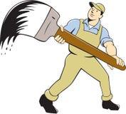 House Painter Giant Paintbrush Cartoon Royalty Free Stock Image