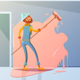House Painter Illustration Royalty Free Stock Images