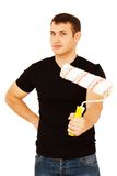 House painter with paint roller Royalty Free Stock Photography
