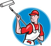 House Painter With Paint Roller Cartoon Stock Photos
