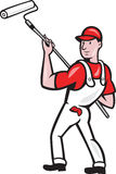 House Painter With Paint Roller Cartoon Royalty Free Stock Image