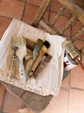 House painter's paintbrushes Royalty Free Stock Photo