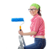 House painter woman Stock Photography