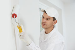 House painter at work Stock Photos