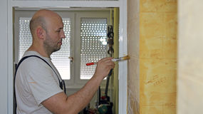 House Painter Working Royalty Free Stock Photos