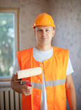 House painters with paint roller Stock Image