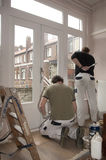 House painters at work inside Royalty Free Stock Image