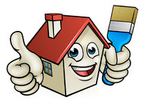 House Painting Cartoon Character Stock Images