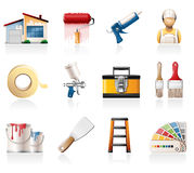 House Painting Icons Royalty Free Stock Images