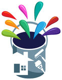 House painting. Illustrated  design on  background Royalty Free Stock Image