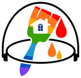 House painting. Illustrated  design on  white background Royalty Free Stock Photography