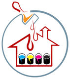 House painting. Illustrated  design on  white background Stock Images