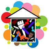House painting. Illustrated logo design Stock Photo