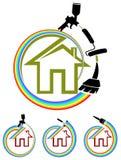 House painting. Illustrated logo design Royalty Free Stock Photo