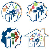 House painting logo set Stock Photography