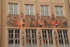 House painting. Munich Royalty Free Stock Photography