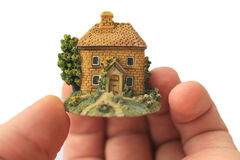 House in  palm Stock Image