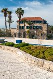 House with palms in Jaffa Tel Aviv Royalty Free Stock Photo