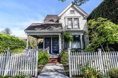 House in Palo Alto, California stock images