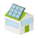 house with panel solar  isolated icon design Royalty Free Stock Image