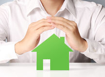 House of paper in hand Royalty Free Stock Photo