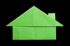 House paper made folded origami style Royalty Free Stock Images