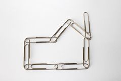 House Paperclips Royalty Free Stock Image