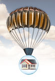 House and parachute Royalty Free Stock Photos
