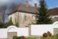 House of parish office in Olšany village near Jindřichuv Hradec royalty free stock photos