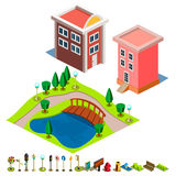 House and Park building icon Stock Images