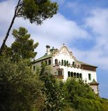 House in Park Guell, Barcelona Royalty Free Stock Photography