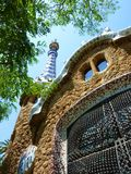 House at park Guell, Barcelona, Spain Royalty Free Stock Photo
