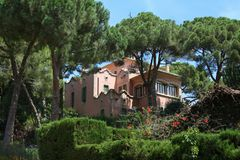 House in Park Guell. A house in the thickets of Park Guell Royalty Free Stock Photo